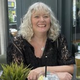 Eileen enjoying an alcohol free drink